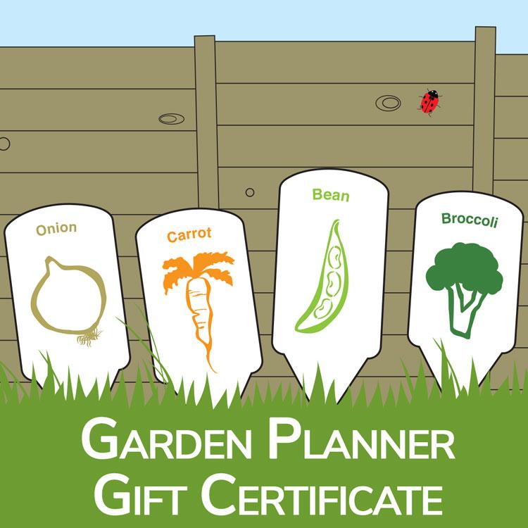Gardening Gift - Garden Planner Gift Certificate